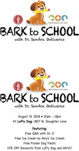 Bark to School Ice Cream Party @ Lofty Dog | Austin | Texas | United States