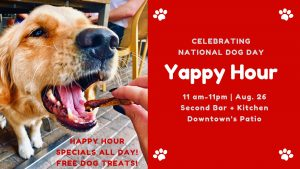 All-Day Yappy Hour on National Dog Day @ Second Bar + Kitchen Downtown | Austin | Texas | United States